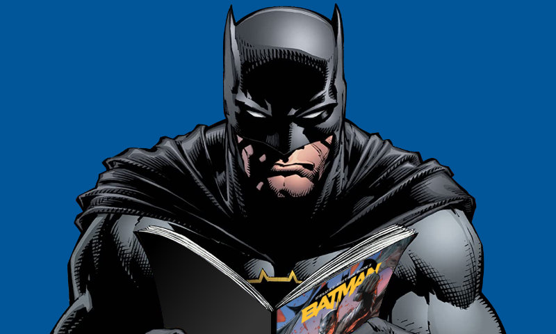 Batman reading