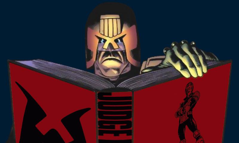 Judge Dredd reading